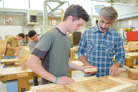 woodwork: Woodwork class Stock Photo