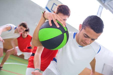 dribbling: young man dribbling Stock Photo