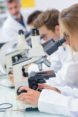 biology instruction: Chemist in research lab
