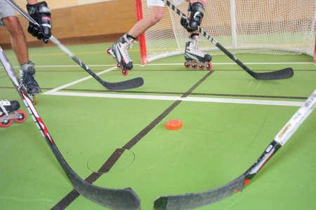 roller Hockey Stockfoto
