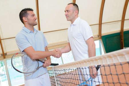 siervo: La deportividad al final de un partido de tenis