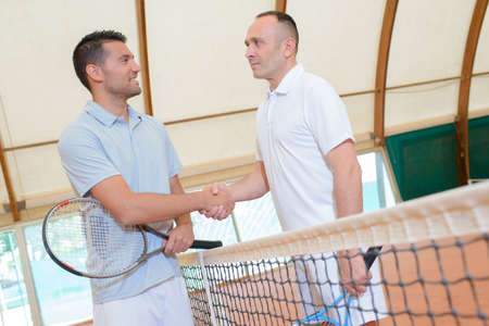 serf: Sportsmanship at the end of a tennis game