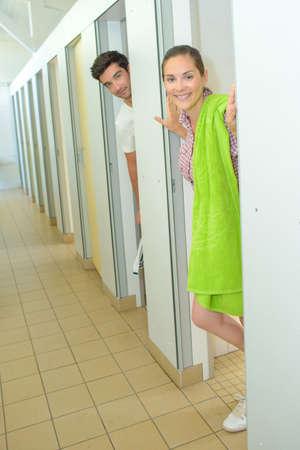 looker: Couple in shower rooms
