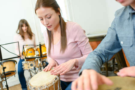 percussion: Drummers in a lesson