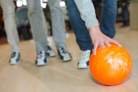 socialise: bowling ball