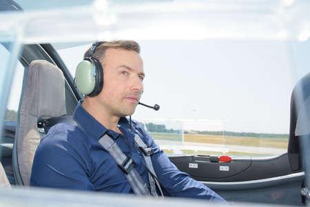 pilot light: Pilot in light aircraft