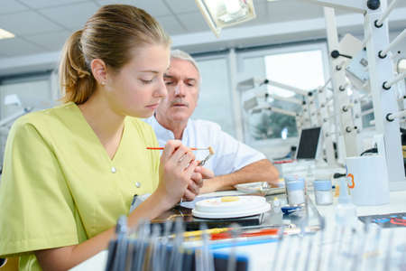 assistant: Dental assistant Stock Photo