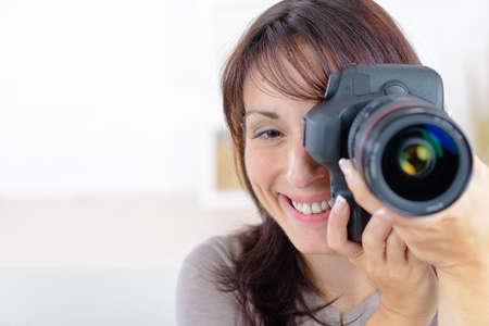 amateur: fotógrafo aficionado Foto de archivo