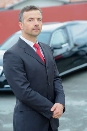 bodyguard: man in suit Stock Photo