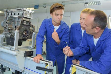 machine engineers Stock Photo