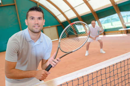 siervo: partido de tenis Foto de archivo