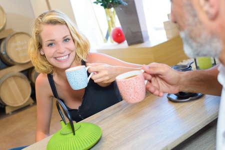 break: tea break Stock Photo