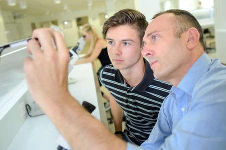 apprenticeship employee: man and teen