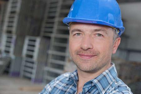 contractual: happy worker Stock Photo
