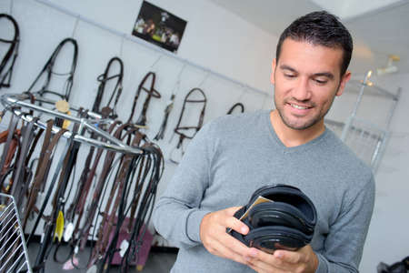 buying: man buying leather
