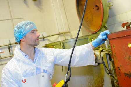 food processing: food processing Stock Photo