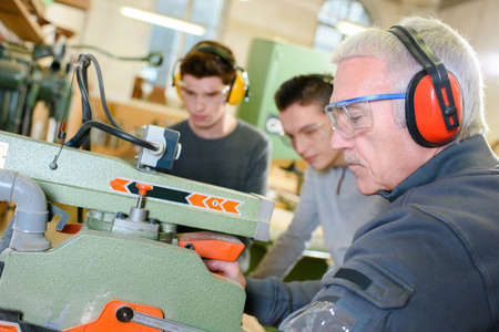 experienced operator: Carpentry work shop