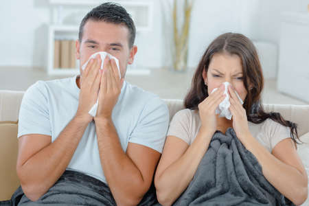 feeble: Couple both have a cold