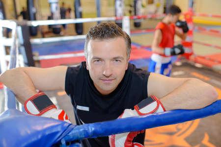 boxing coach Stock Photo