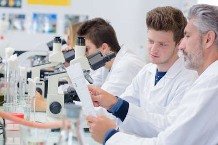 biologist: science lab Stock Photo