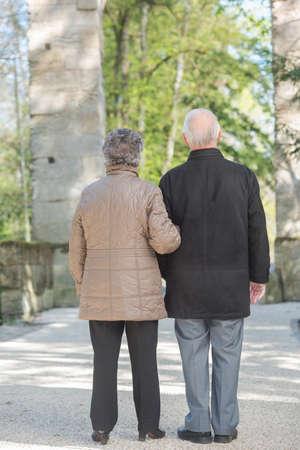 oudoor: elderly couple outdoor Stock Photo