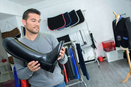 specialised: man in riding store
