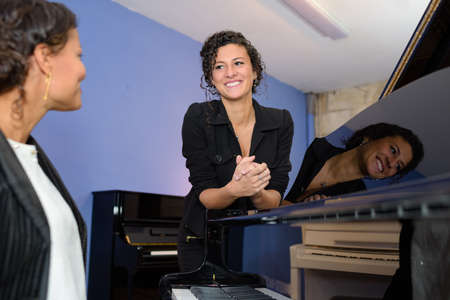 piano player: piano player and singer