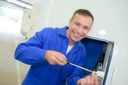 maintenance fitter: Portrait of fitter Stock Photo