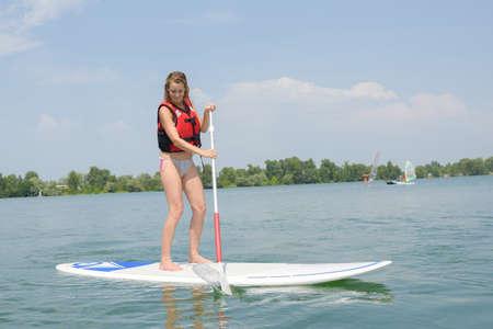 lifevest: girl going paddling