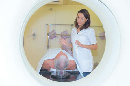 before MRI examination Stock Photo