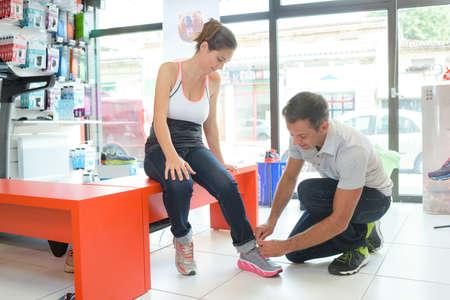 ergonomic: ergonomic designed shoes Stock Photo
