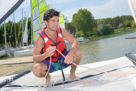 lifevest: sailing on a lake
