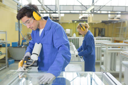 stabilize: glass production factory