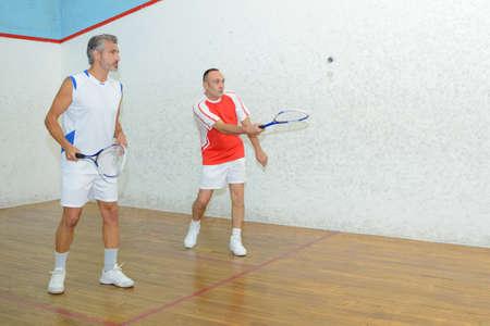serf: soft tennis game Stock Photo