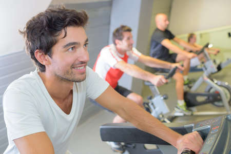 cardiovascular workout: indoor cycling activity