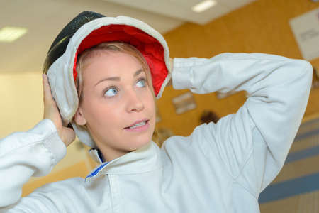 competitive sport: preparing for fencing