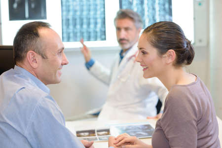 overwhelm: doctor interpreting the result