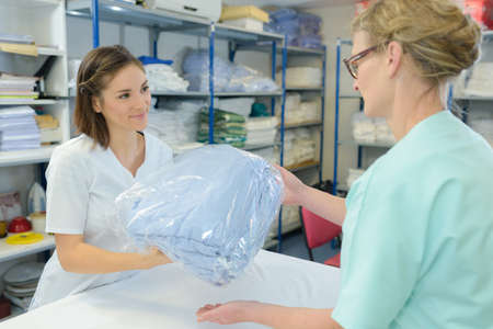 customer records: picking up the clean laundry