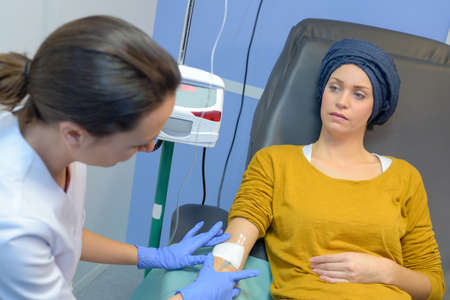 cancer patient for check-up
