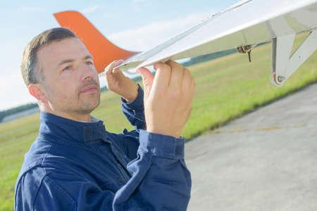 technical department: aircraft wing maintenance