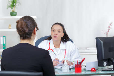 medical doctor and patient Stock Photo