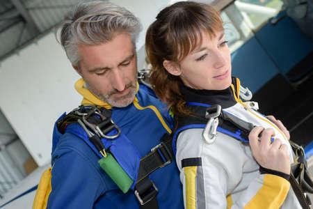parachuting: parachuting preparation drill