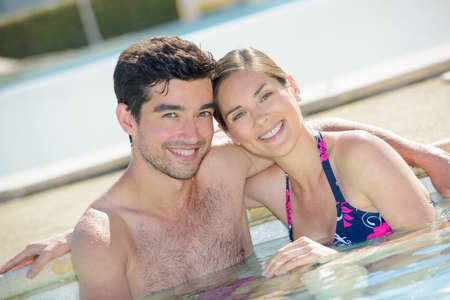 tourist feature: in the swimming pool Stock Photo