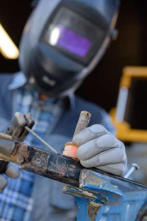 welding a screw