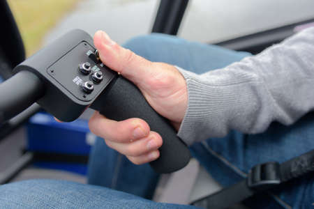throttle: Hand on steering controls