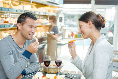 looker: lunchtime Stock Photo