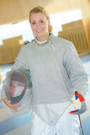 footwork: fencer on uniform