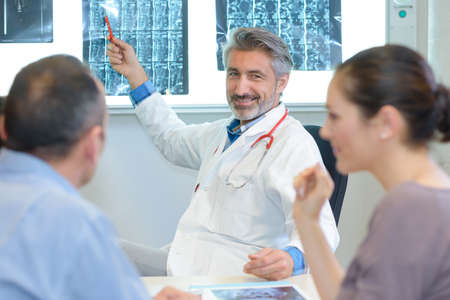 health concern: specialist giving the result Stock Photo