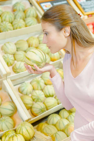meticulous: woman with melon