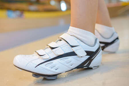 wearing sports shoes